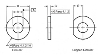 Hardened Steel Circular and Circular Clipped Washers 1