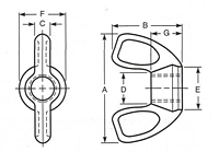 Type C Wing Nuts