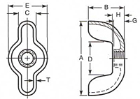 Type D Style 3 Wing Nuts